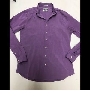 Express men's purple 1MX extra slim shirt large